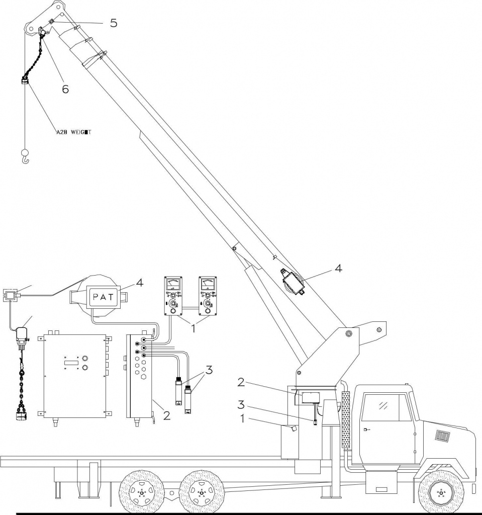 Pat Ds150 Boom Truck Info Click Here Crane Shut Off Wiring Diagram 3 Lmi System Description